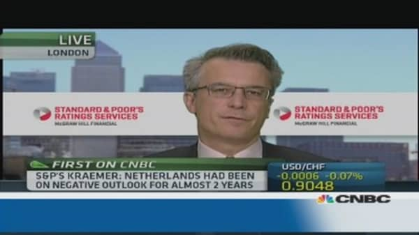Risk of complacency in euro zone: S&P