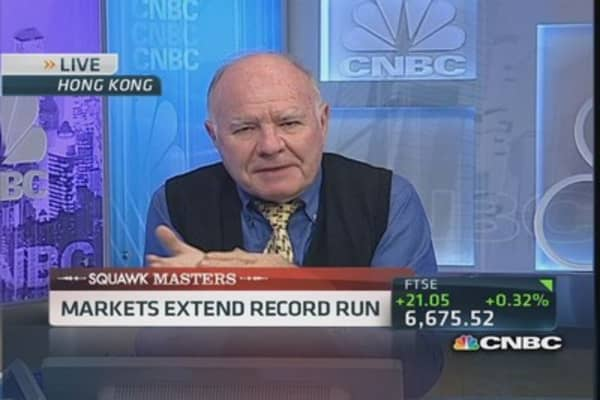 Marc Faber: No value in stocks