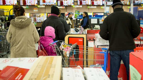 Black Friday shoppers at Walmart on Nov. 29, 2013.