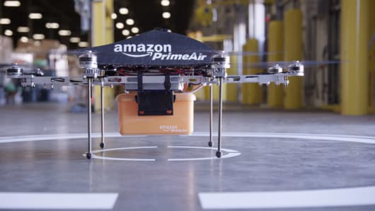 Amazon.com is testing out the viability of drone delivery for small packages.