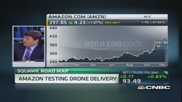 Amazon testing drone delivery