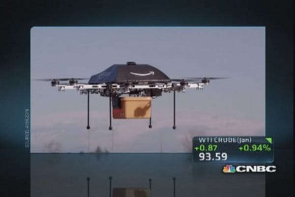 Amazon testing delivery by drones