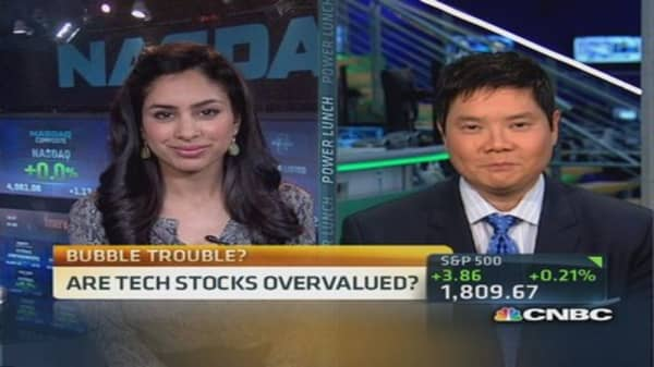 Are tech and financial stocks overvalued?