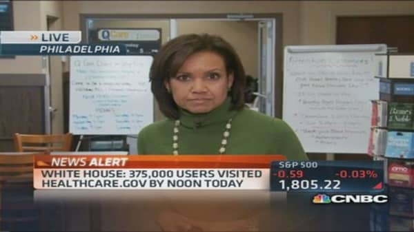 White House: 375,000 visitors at Healthcare.gov