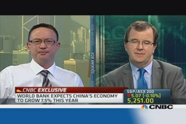 World Bank sees Chinese growth at 7.5% this year