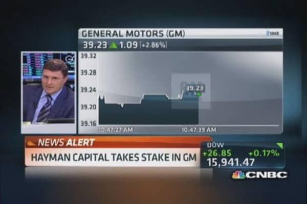 Hayman Capital takes stake in GM