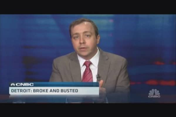 Santelli: Detroit bankruptcy and bonds