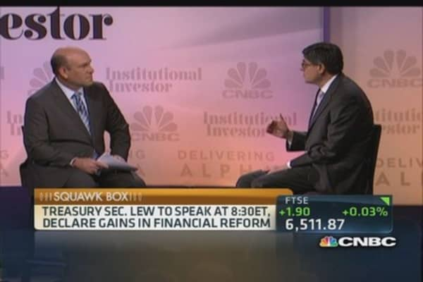 Lew: Pieces in place to end too big to fail