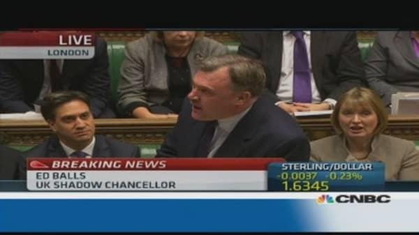 Osborne in denial, living standards falling: Shadow Fin Min