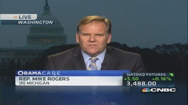 Shutdown Healthcare.gov and fix glitches: Rep. Rogers