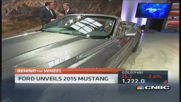 Ford CEO shows new 2015 Mustang