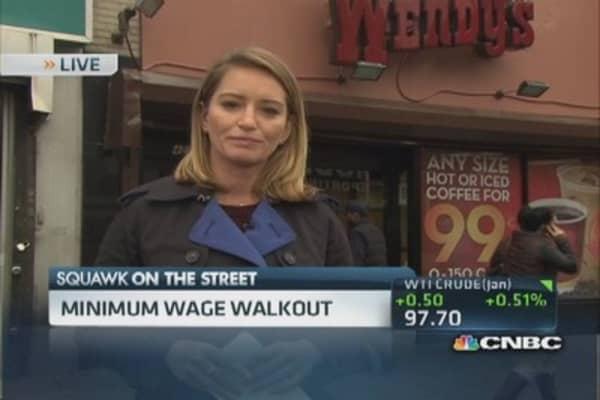 Fast-food street protest