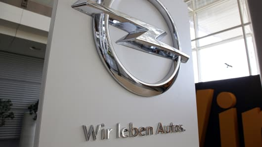 The Opel factory in Rüesselsheim, Germany.
