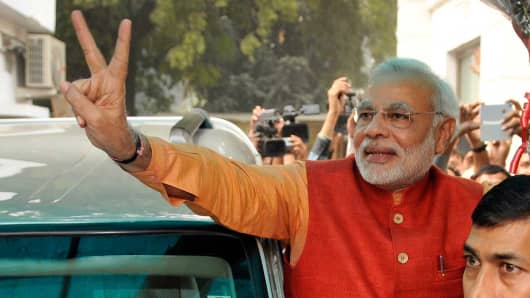 BJP Prime Ministerial candidate Narendra Modi,  December 8, 2013 in New Delhi.