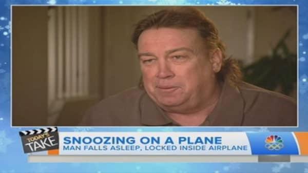 Passenger left in plane
