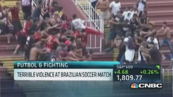 Terrible violence at Brazilian soccer match