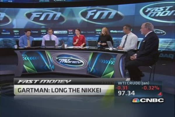 Be long the Nikkei: Gartman
