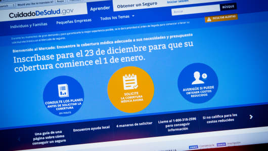 Heathcare.gov spanish website