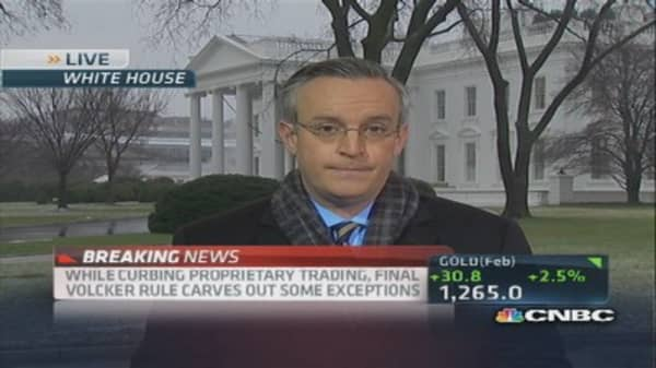 Javers: Volcker Rule exemptions