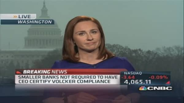 Volcker Rule a win for banks?