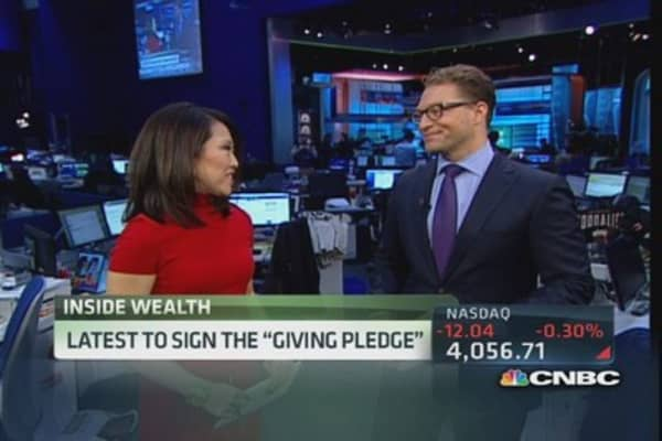 Latest billionaires of 'Giving Pledge'