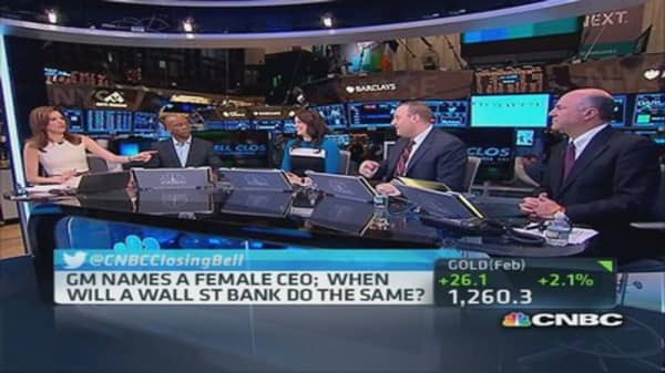 When will Wall Street name a female CEO?