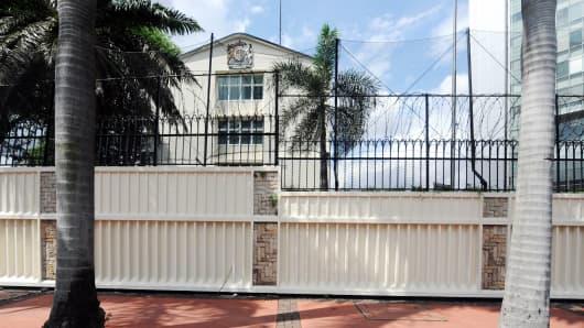 The old British embassy in Jakarta, photo taken June 3, 2011.