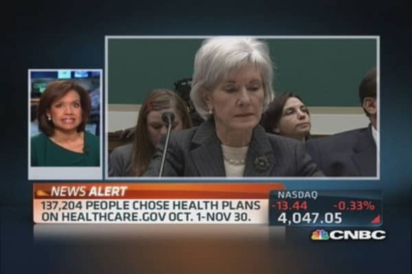 HHS' Sebelius to testify on Obamacare