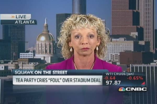 Braves stadium flight 'smacks of cronyism': Tea party activist