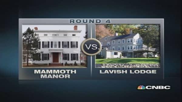 $1 million homes: Lavish Lodge vs. Mammoth Manor