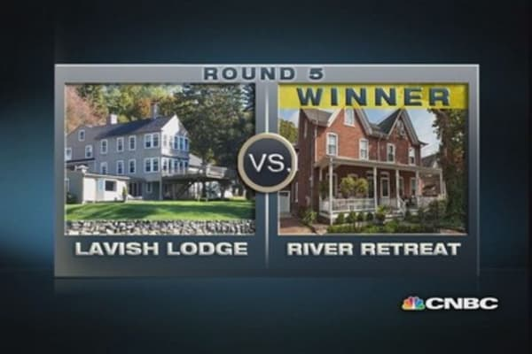 $1 million homes: Lavish Lodge vs. River Retreat