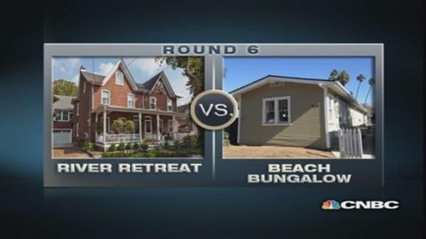 $1 million homes: Beach Bungalow vs. River Retreat