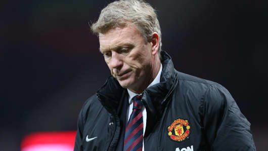 Manager David Moyes of Manchester United