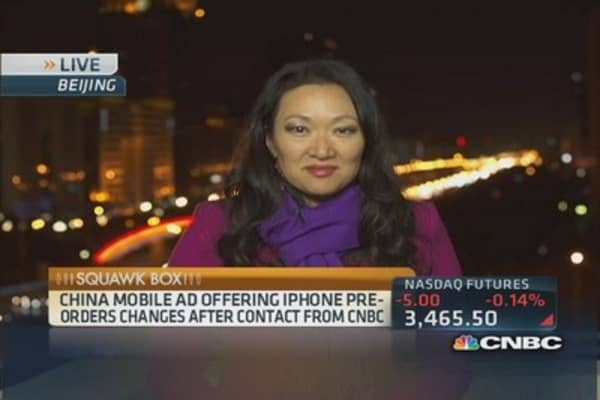 iPhones for sale at China Mobile?