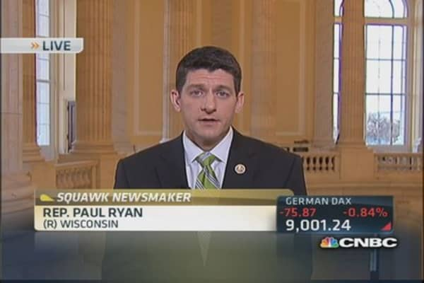 Rep. Ryan: Getting a budget is our ultimate goal