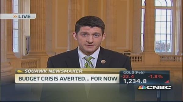 Rep. Ryan on budget agreement