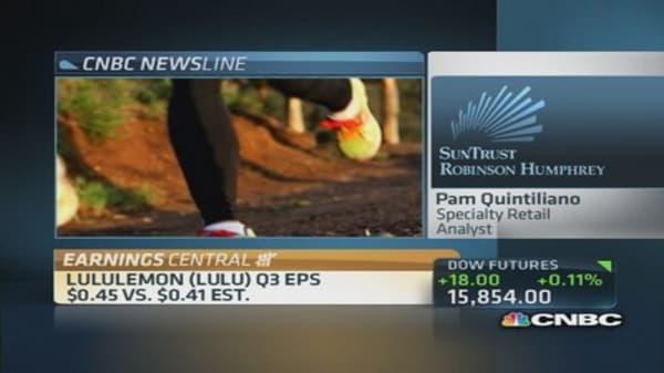 Lululemon under pressure despite Q3 beat
