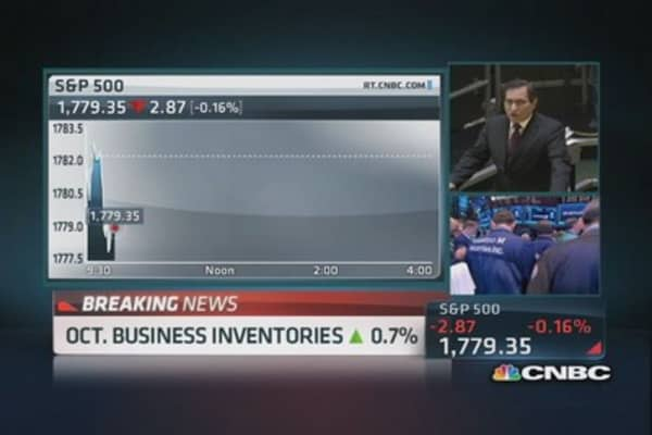October inventories rise 0.7%