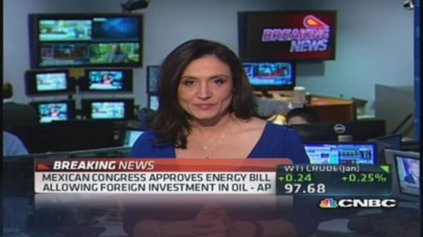 Mexican Congress approves foreign oil investment