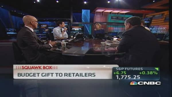 Congress delivers early holiday gift to retailers