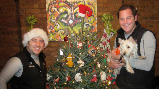 Entrepreneurs Brian Millman and Tyler Kupper are the co-founders behind Tyler's Trees, a New York City-based FreshDirect model for Christmas trees.