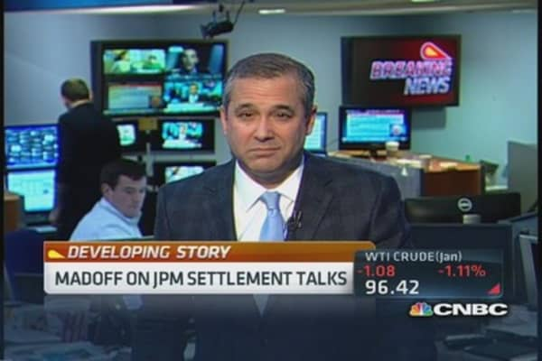 Madoff on JPM settlement talks