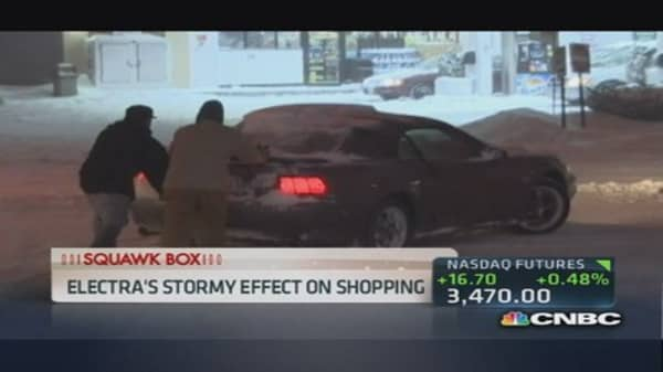 Winter weather hits retailers