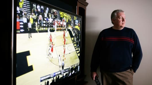 James Myers, who haggled for his Panasonic 60-inch plasma TV, in Walton, Ky., Dec. 7, 2013.