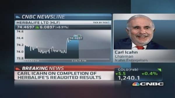 Carl Icahn: Herbalife has been viable for years
