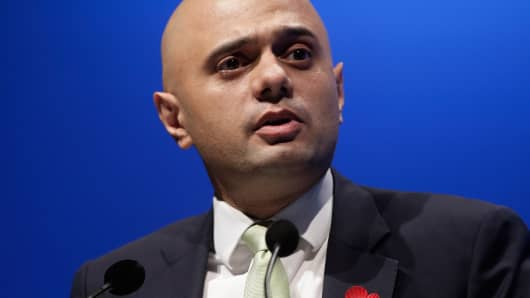 Sajid Javid,  financial secretary to the U.K. treasury.