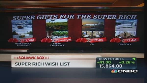 Here's what the super rich want for Christmas
