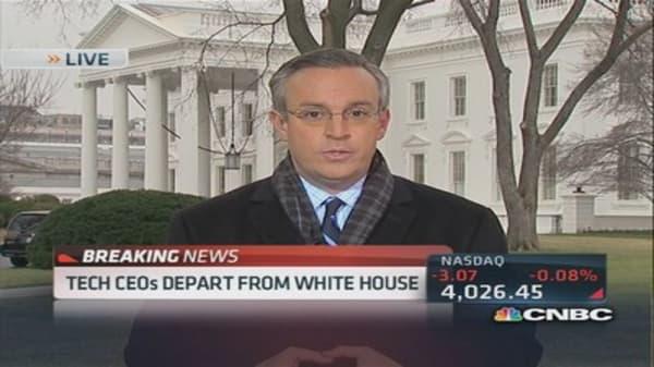 Tech CEOs depart White House
