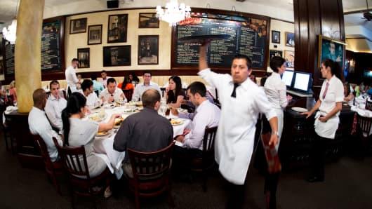 Tony's Restaurant in New York's Times Square