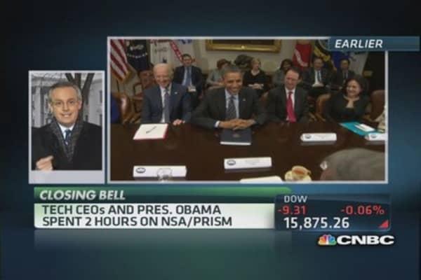 Tech CEOs & Pres. Obama talk NSA